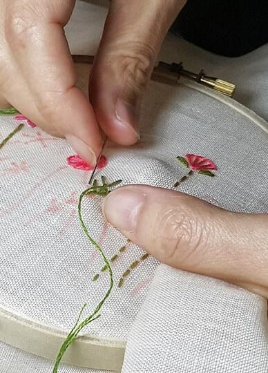 Basic Flower Garden Embroidery Class