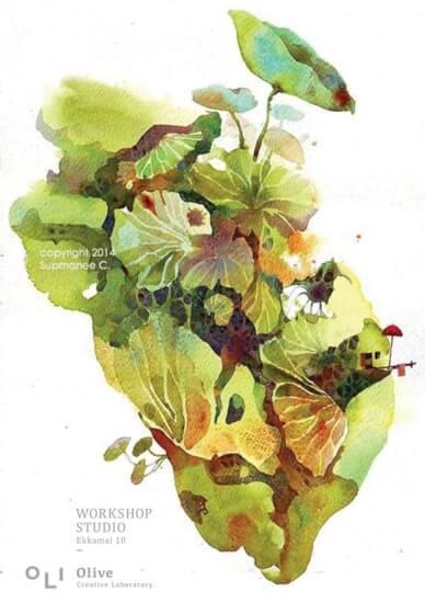 Watercolour Freehand Fantasy Workshop